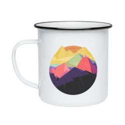 Кружка эмалированная The mountains Art