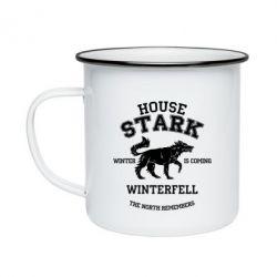 Кружка эмалированная The North Remembers - House Stark