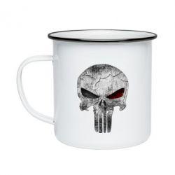 Кружка эмалированная The Punisher Logo