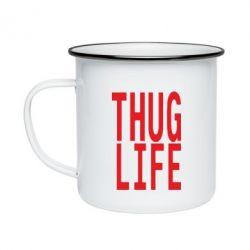 Кружка эмалированная thug life
