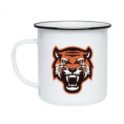 Кружка емальована Tiger