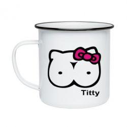 Кружка эмалированная Titty