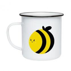 Кружка емальована товста бджілка