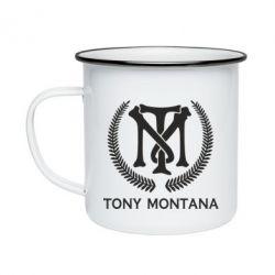 Кружка емальована Tony Montana Logo