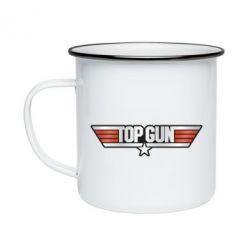 Кружка емальована Top Gun Logo