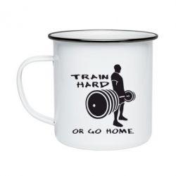 Кружка эмалированная Train Hard or Go Home - FatLine
