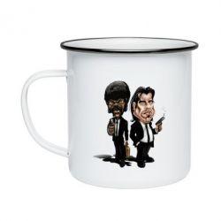 Кружка эмалированная Travolta & L Jackson