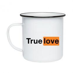 Кружка эмалированная True love