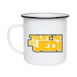 Кружка эмалированная Trust me, I'm a Jedi