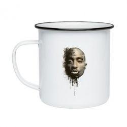 Кружка эмалированная Tupac Shakur