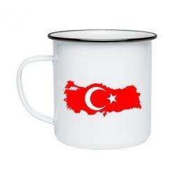 Кружка эмалированная Turkey