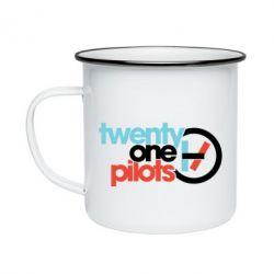 Кружка емальована Twenty One Pilots Logo