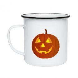 Кружка емальована Тыква Halloween