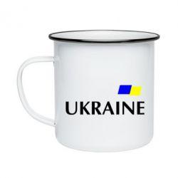 Кружка эмалированная UKRAINE FLAG