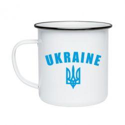 Кружка емальована Ukraine + герб