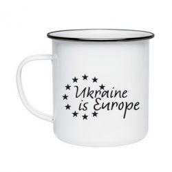 Кружка емальована Ukraine in Europe