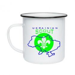 Кружка эмалированная Ukrainian Scout Map - FatLine