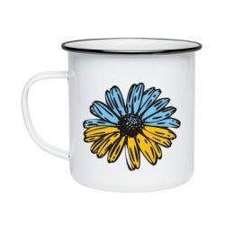 Кружка емальована Українська квітка