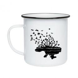Кружка эмалированная Українські птахи