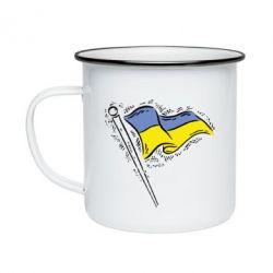Кружка эмалированная Украинский флаг