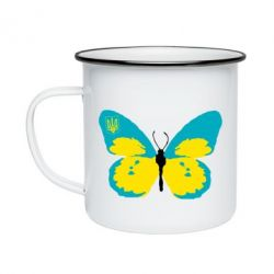 Кружка емальована Український метелик