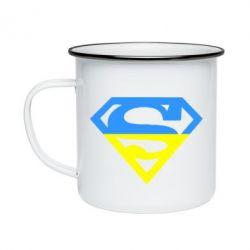 Кружка эмалированная Український Superman - FatLine