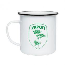 Кружка эмалированная Укроп Light