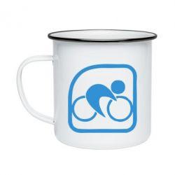 Кружка эмалированная Велоспорт