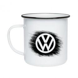 Кружка емальована Volkswagen art