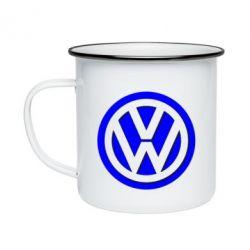 Кружка емальована Логотип Volkswagen