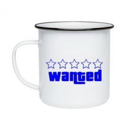 Кружка емальована Wanted
