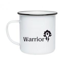Кружка емальована Warrior