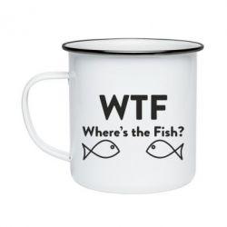 Кружка емальована Where is The Fish
