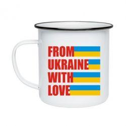 Кружка эмалированная With love from Ukraine - FatLine