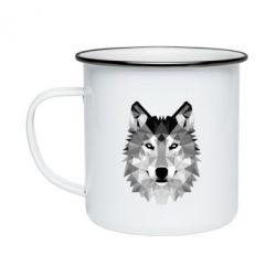 Кружка емальована Wolf Art