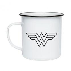 Кружка эмалированная Wonder Woman Logo
