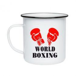 Кружка эмалированная World Boxing