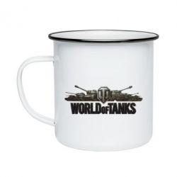 Кружка эмалированная World Of Tanks 3D Logo