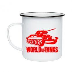 Кружка емальована World Of Tanks Game