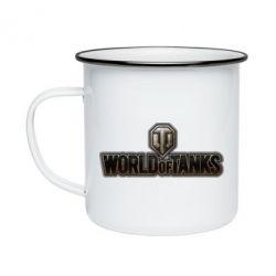 Кружка емальована World Of Tanks Logo