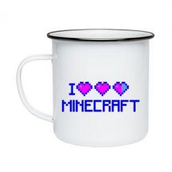 Кружка эмалированная Я люблю Minecraft