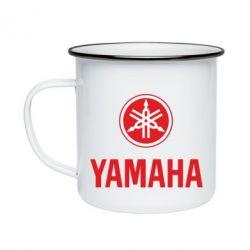 Кружка эмалированная Yamaha Logo(R+W)