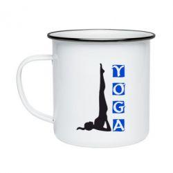 Кружка эмалированная Yoga