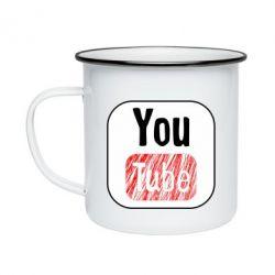 Кружка емальована YouTube
