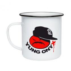 Кружка емальована Yung ONYX