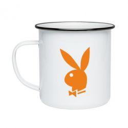 Кружка эмалированная Заяц Playboy - FatLine