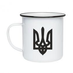 Кружка эмалированная Жирный Герб Украины - FatLine