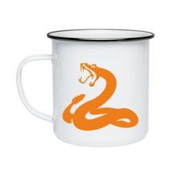 Кружка емальована Змія - FatLine