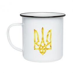 Кружка эмалированная Золотий герб - FatLine