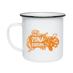 Кружка емальована Zona Enduro